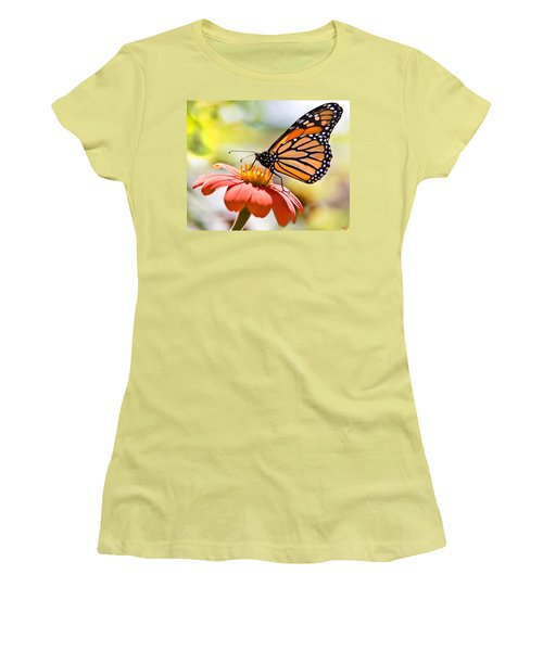 Monarch Butterfly Women's T-Shirt (Junior Cut) by Chris Lord