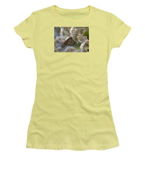Women's T-Shirt (Junior Cut) featuring the photograph Monarch Pink by Randy Bodkins