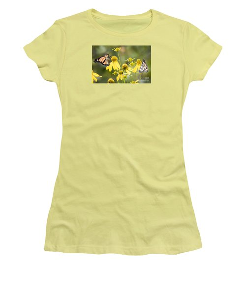 Women's T-Shirt (Junior Cut) featuring the photograph Monarchs Of Wisconsin by Ricky L Jones
