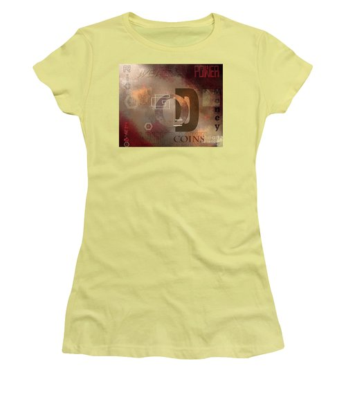 Money Gold Abundance Women's T-Shirt (Athletic Fit)