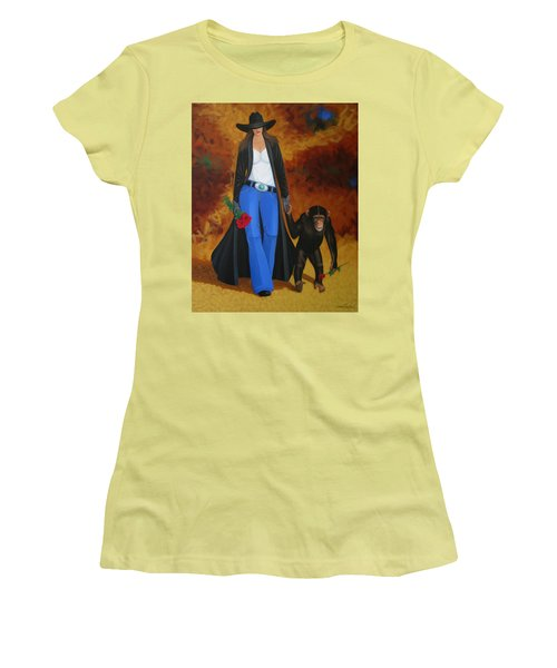 Monkeys Best Friend Women's T-Shirt (Junior Cut) by Lance Headlee