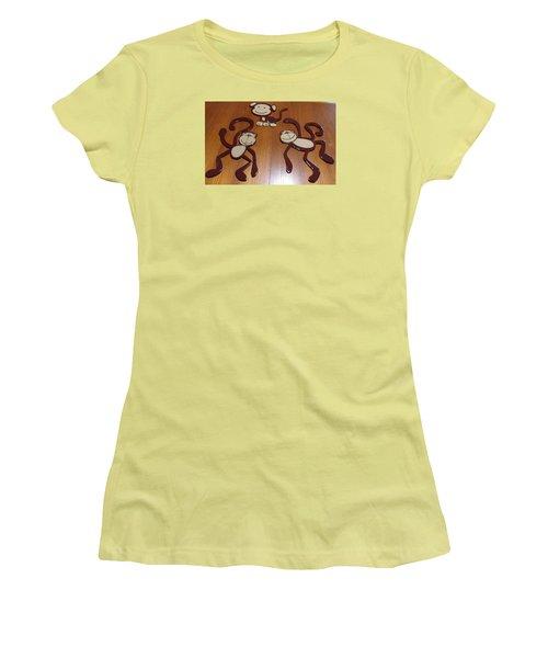 Monkeys Women's T-Shirt (Junior Cut) by Val Oconnor