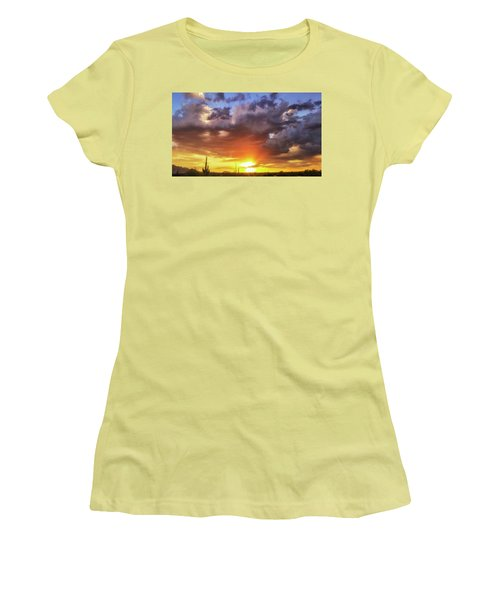 Women's T-Shirt (Junior Cut) featuring the photograph Monsoon Sunset by Anthony Citro