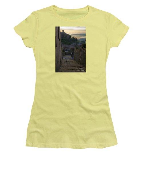 Women's T-Shirt (Junior Cut) featuring the photograph Montalcino City by Yuri Santin