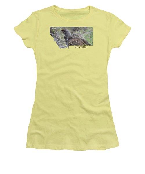 Montana- Dusky Grouse Women's T-Shirt (Athletic Fit)