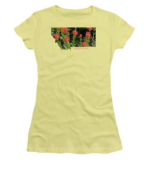 Montana-indian Paintbrush  Women's T-Shirt (Athletic Fit)