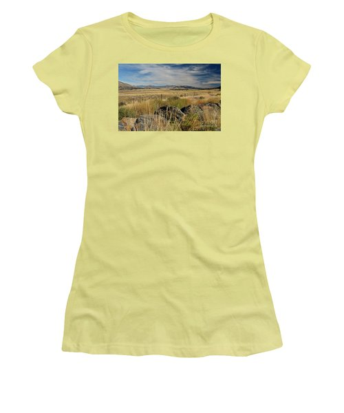 Montana Route 200 Women's T-Shirt (Junior Cut) by Cindy Murphy - NightVisions