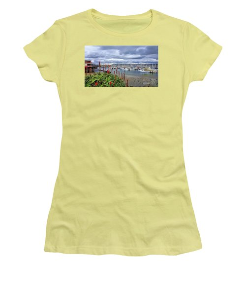 Monterey Marina Women's T-Shirt (Junior Cut) by Gina Savage