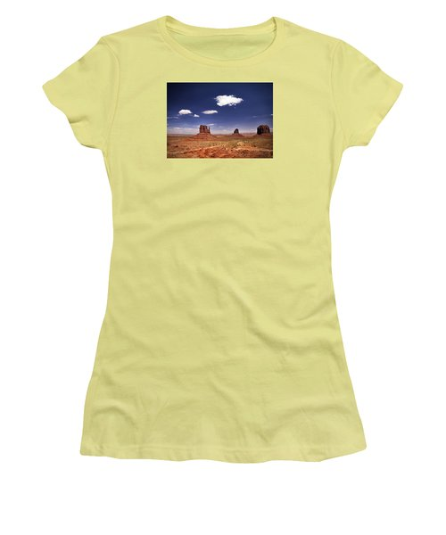 Women's T-Shirt (Junior Cut) featuring the photograph Monument Valley by James Bethanis