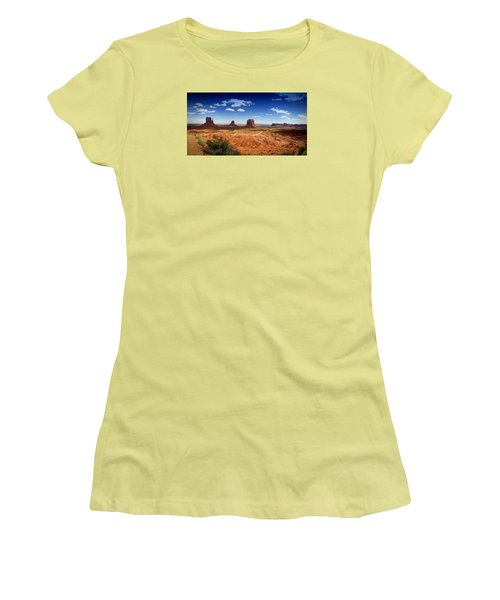 Women's T-Shirt (Junior Cut) featuring the photograph Monument Valley Utah by James Bethanis