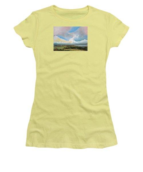 Moody Skies Women's T-Shirt (Junior Cut) by Trina Teele