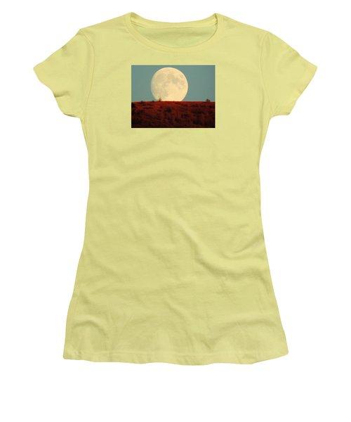 Moon Over Utah Women's T-Shirt (Junior Cut) by Charlotte Schafer