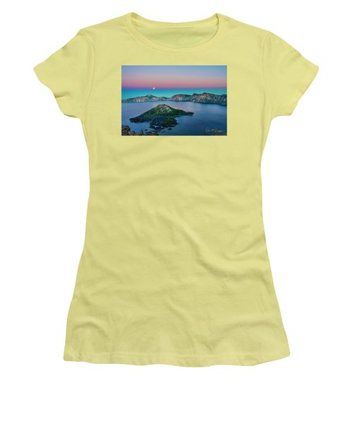 Moon Over Wizard Island Women's T-Shirt (Athletic Fit)