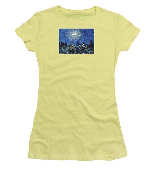 Moonlight Counsel Women's T-Shirt (Junior Cut) by Lynda Hoffman-Snodgrass