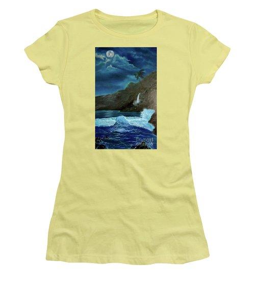 Moonlit Wave Women's T-Shirt (Athletic Fit)
