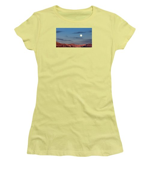 Moonrise With Afterglow Women's T-Shirt (Athletic Fit)