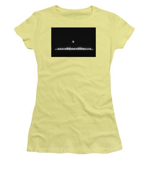 Moonset Over Dia Women's T-Shirt (Junior Cut) by Kristal Kraft