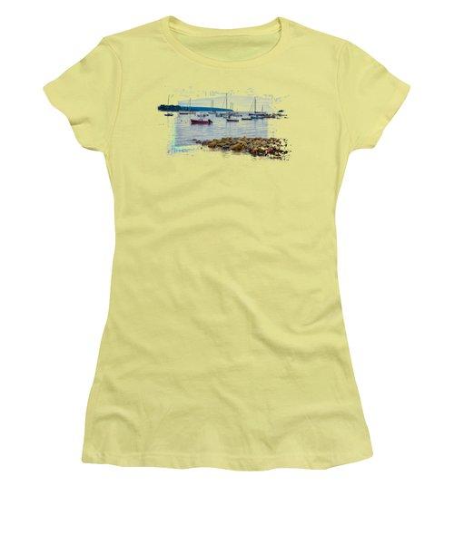 Moorings 2 Women's T-Shirt (Junior Cut) by John M Bailey