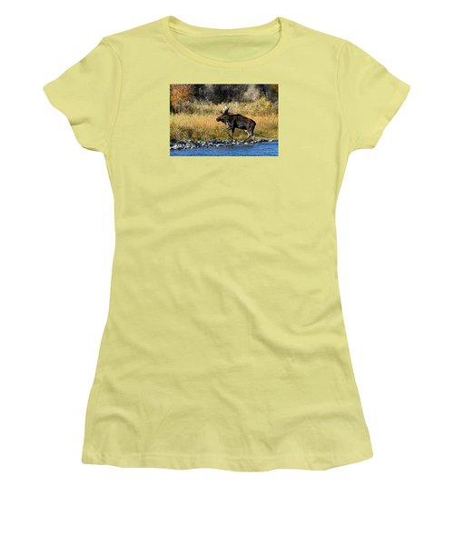 Moose X-ing Women's T-Shirt (Athletic Fit)