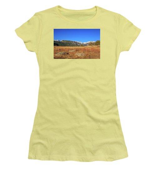 Moraine Park In Rocky Mountain National Park Women's T-Shirt (Junior Cut) by Peter Ciro