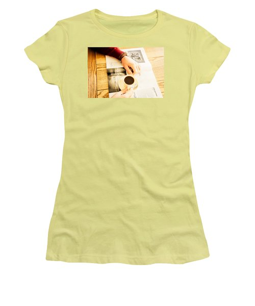Morning Coffee Women's T-Shirt (Junior Cut) by Cesare Bargiggia