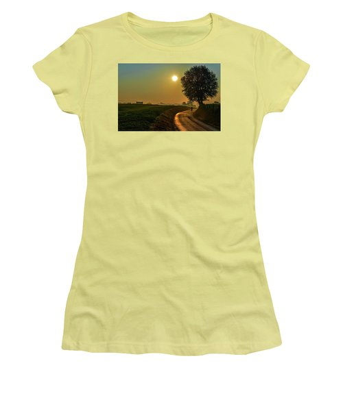 Morning Dew In Color Women's T-Shirt (Athletic Fit)