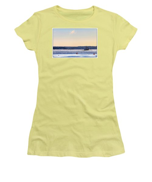 Morning Ferry Women's T-Shirt (Athletic Fit)