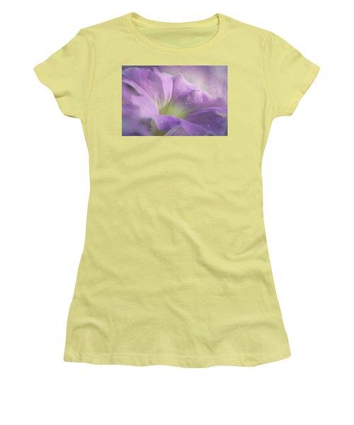 Morning Glory Women's T-Shirt (Junior Cut) by Ann Lauwers