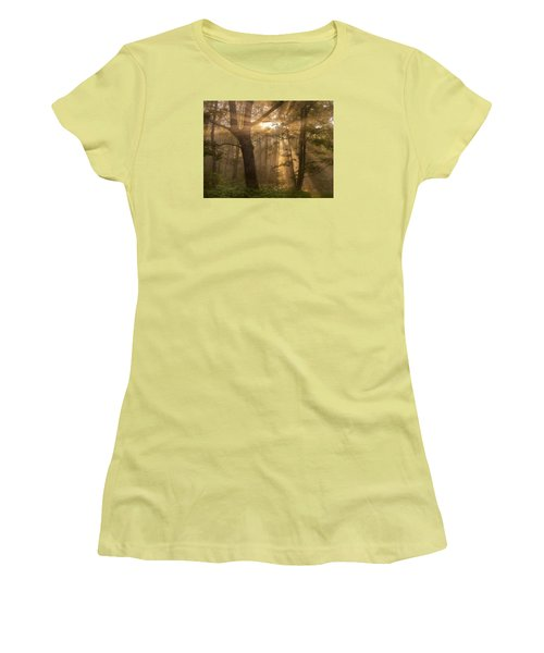 Morning God Rays Women's T-Shirt (Athletic Fit)