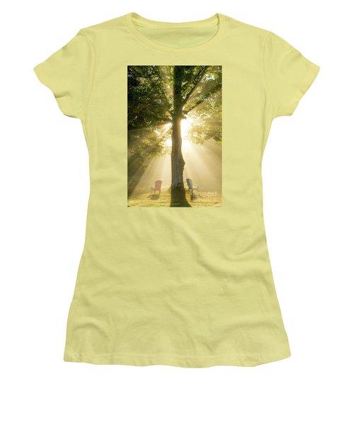 Morning Light Shining Down Women's T-Shirt (Junior Cut) by Alana Ranney