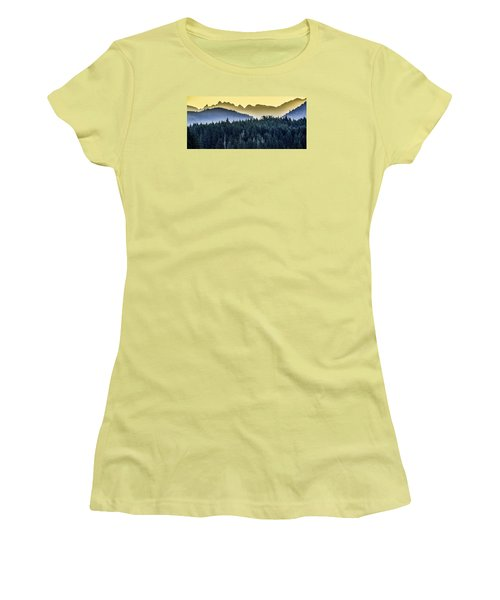 Morning Mountains Women's T-Shirt (Athletic Fit)