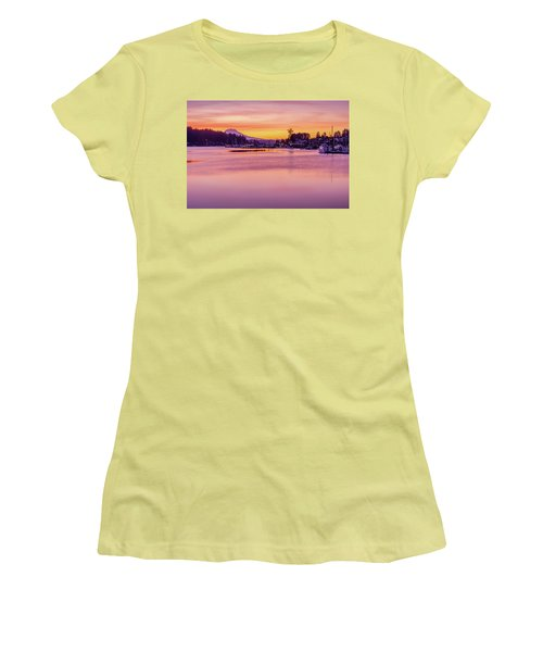 Women's T-Shirt (Junior Cut) featuring the photograph Morning Sunrise In Gig Harbor by Ken Stanback