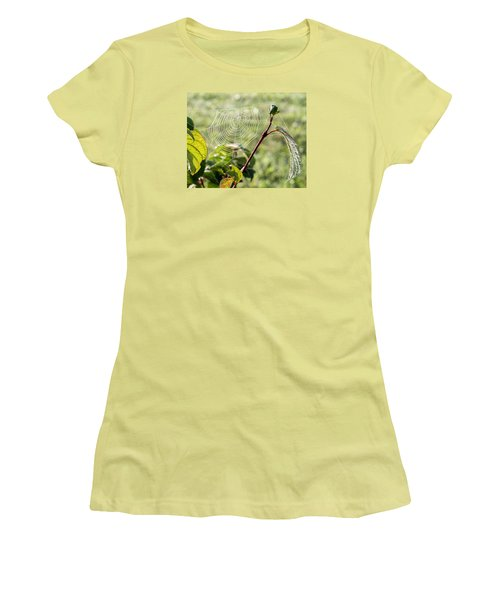 Morning Web #1 Women's T-Shirt (Athletic Fit)