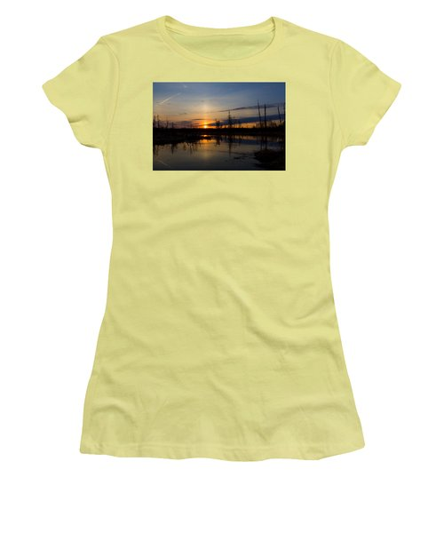 Women's T-Shirt (Junior Cut) featuring the photograph Morning Wilderness by Gary Smith