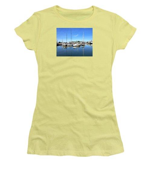 Moss Landing Harbor Women's T-Shirt (Athletic Fit)