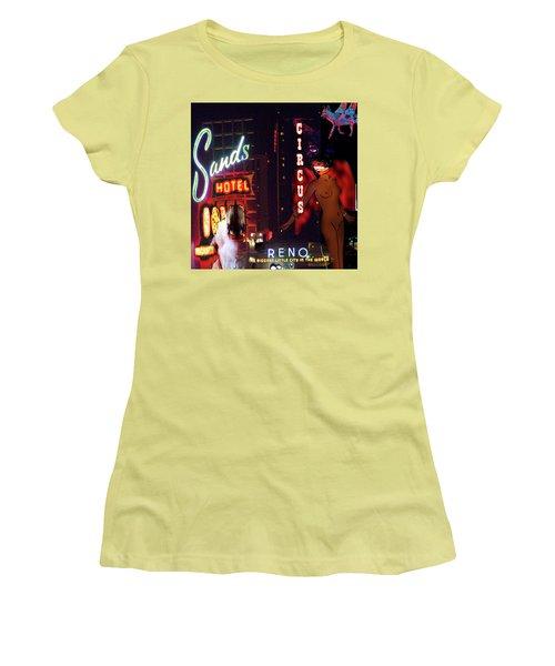 Motel Variations Angels Women's T-Shirt (Junior Cut) by Ann Tracy
