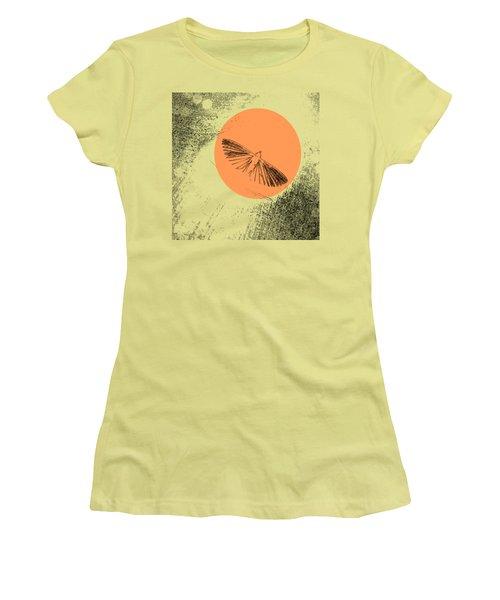 Moth In Orange Women's T-Shirt (Junior Cut) by Sverre Andreas Fekjan