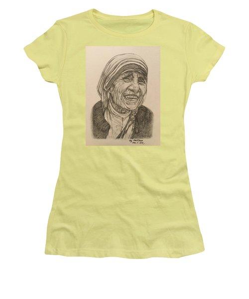 Mother Theresa Kindness Women's T-Shirt (Junior Cut) by Kent Chua