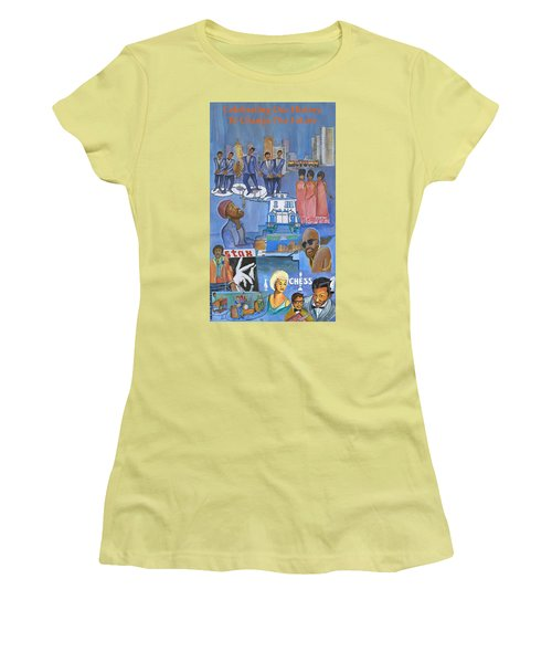 Motown Commemorative 50th Anniversary Women's T-Shirt (Athletic Fit)