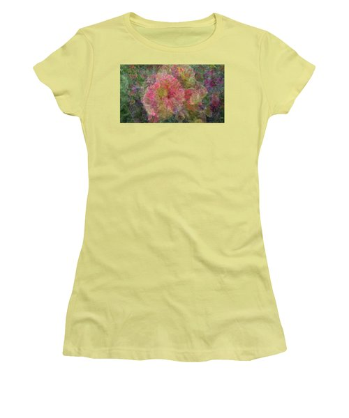 Mottled Pink Collage Pop Women's T-Shirt (Athletic Fit)