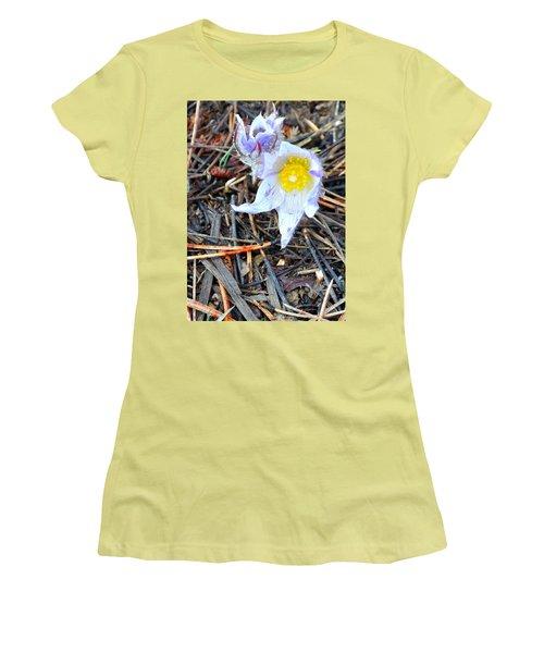 Mount Margaret Spring 14344 Women's T-Shirt (Junior Cut) by Jerry Sodorff