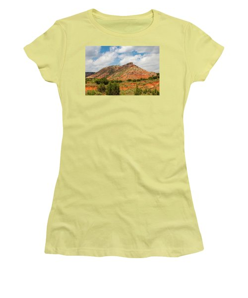 Mountain In Palo Duro Canyons Women's T-Shirt (Athletic Fit)