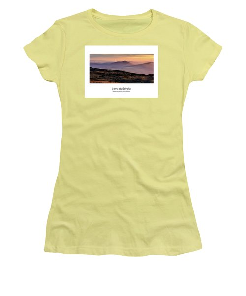 Women's T-Shirt (Junior Cut) featuring the photograph Mountain Mist Poster by Marion McCristall