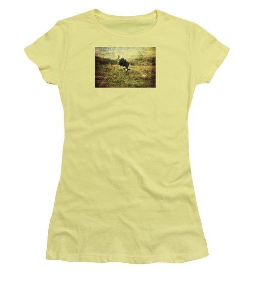 Mountain Pastures  Women's T-Shirt (Junior Cut) by Vittorio Chiampan