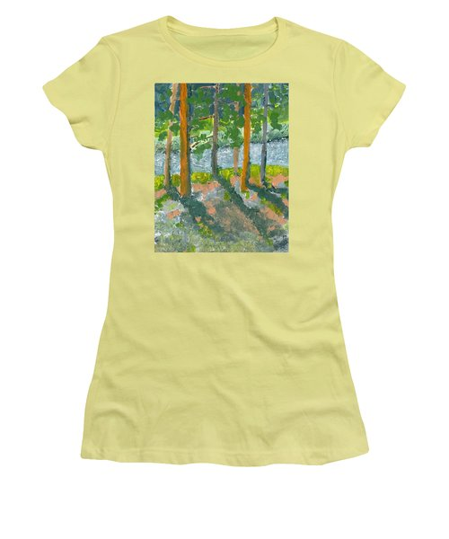 Mountain Valley Women's T-Shirt (Junior Cut) by Rodger Ellingson