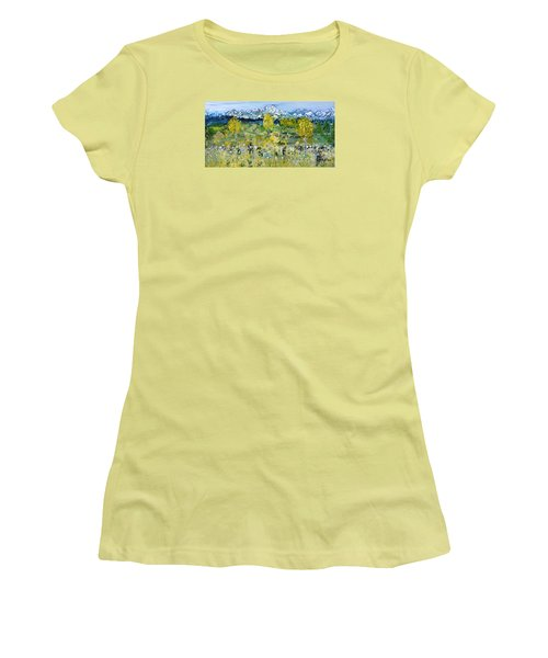Mountain View Women's T-Shirt (Junior Cut) by Evelina Popilian