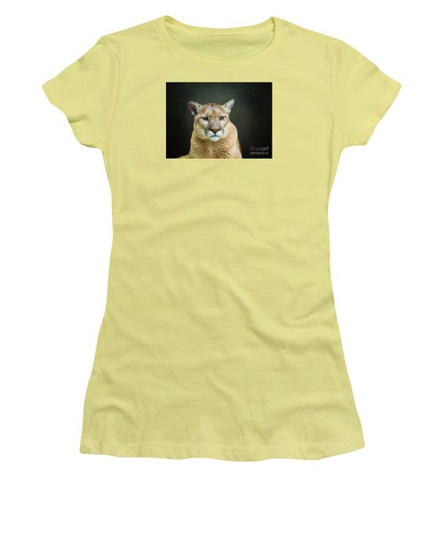 Mountian Lion Women's T-Shirt (Junior Cut) by Suzanne Handel