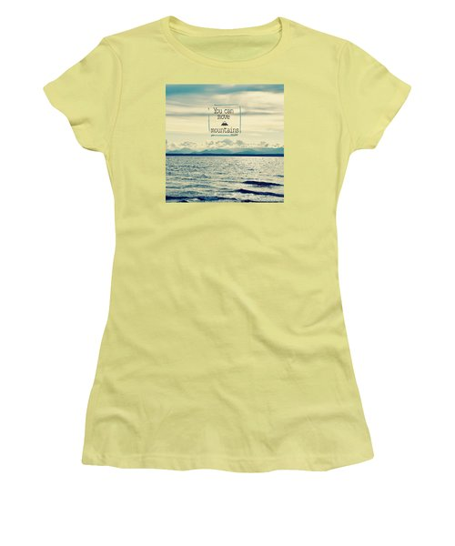 Move Mountains Women's T-Shirt (Junior Cut) by Robin Dickinson