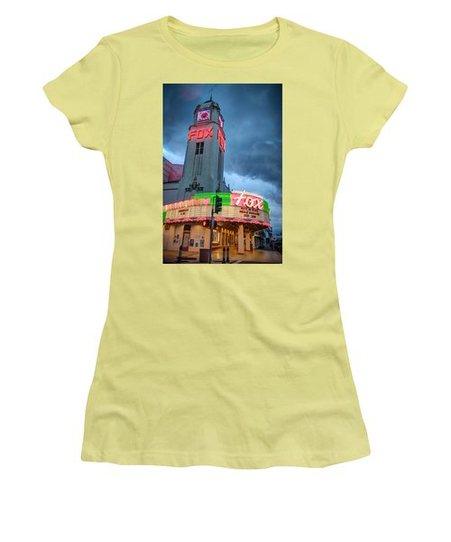 Movie Theater Tribute To Merle Haggard Women's T-Shirt (Athletic Fit)