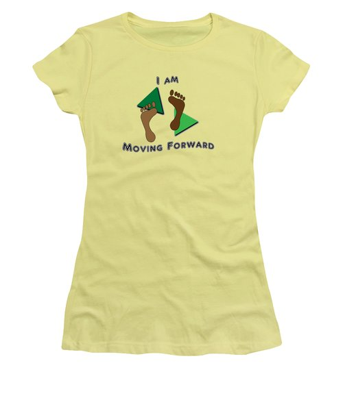 Moving Forward Women's T-Shirt (Junior Cut) by Judi Saunders